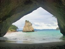 Cathedral Cove, Whitianga. Cathedral cove, Narnia's movie scene Stock Photos