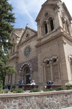 Cathedral in the creative city of Santa Fe New Mexico USA Royalty Free Stock Image