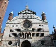 The cathedral of Cremona. Lombardy, Italy royalty free stock photo