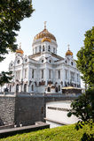 Cathedral of Crist The Savior in Moscow, Russian Federation.  Stock Photos