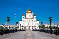 Cathedral of Crist The Savior in Moscow, Russian Federation.  Royalty Free Stock Images