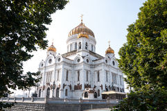 Cathedral of Crist The Savior in Moscow, Russian Federation Stock Images