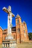 Cathedral and cross in Betafo Stock Photo