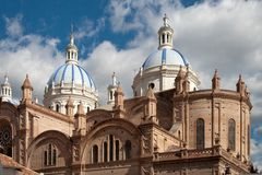 Cathedral of Cuenca, Ecuador. Cathedral of The Immaculate Conception, Cuenca, Ecuador Royalty Free Stock Images