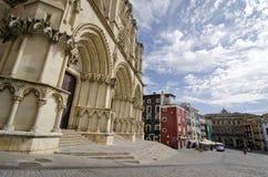Cathedral. Cuenca 2. CUENCA, SPAIN - APRIL 15, 2013: Cathedral of Cuenca, Castilla la Mancha, Spain Royalty Free Stock Photo