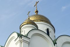 Cathedral, cupola Tyraspol, Transnistria. Details of the golden dome orthodox cathedral in tiraspol capital of the self-declared Republic of Transnistria moldova royalty free stock photos