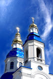 Cathedral with cupolas Stock Images