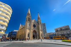 Cathedral in Curitiba, Brazil Royalty Free Stock Photo