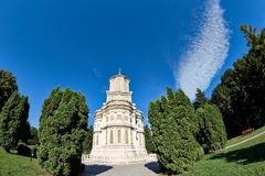 Cathedral of Curtea de Arges in Romania. The Cathedral of Curtea de Arges is a Romanian Orthodox cathedral dedicated to Saint Nicholas Royalty Free Stock Image