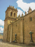 Cathedral of Cusco Perspective View Stock Image