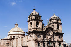 Cathedral Cusco Peru Against Blue Sky South America Stock Image
