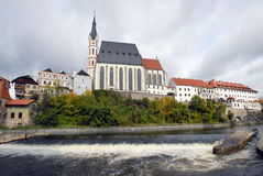 Cathedral in Czech  Krumlov Royalty Free Stock Image