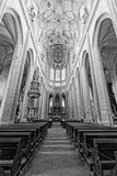 Cathedral in Czech Republic. Inside the cathedral near Kutna Hora, Czech Republic Stock Photography