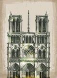cathedral dame de france notre paris Χέρι Στοκ φωτογραφία με δικαίωμα ελεύθερης χρήσης