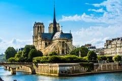 cathedral dame de notre Paris Image libre de droits