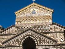 The Glittering Saint Andrew`s Cathedral in Amalfi. Stock Images