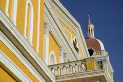 cathedral de detail格拉纳达尼加拉瓜 图库摄影