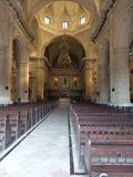 Cathedral de la Habana, historic site, place of worship, basilica, chapel. Cathedral de la Habana is historic site, chapel and arch. That marvel has place of Royalty Free Stock Images