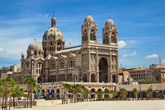 Cathedral de la Major in Marseille, France. MARSEILLE, FRANCE - JULY 5: Cathedral de la Major, one of the main Catholic cathedral in Marseille on July 5, 2014 in Stock Images