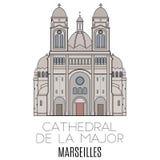 Cathedral De La Major, Marseilles Stock Photography