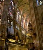 cathedral de leon Μαρία santa Ισπανία Στοκ εικόνες με δικαίωμα ελεύθερης χρήσης