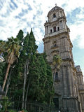Cathedral de Málaga. The Cathedral of Málaga, Spain by daýlight Royalty Free Stock Image