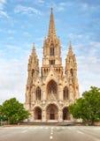 Cathedral de Notre Dame du Sablon en Bruselas, B?lgica foto de archivo libre de regalías