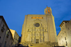 Cathedral de Santa Maria, Girona, Spain Stock Image