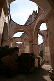 Cathedral de Santiago, ruin of Antigua, Guatemala royalty free stock photo