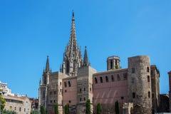 Cathedral de Sta尤拉莉亚 免版税库存照片