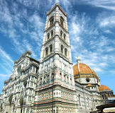 cathedral del fiore佛罗伦萨意大利玛丽亚・圣诞&#32769 库存图片