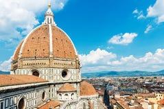 cathedral del fiore佛罗伦萨意大利玛丽亚・圣诞&#32769 库存照片