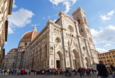 cathedral del fiore玛丽亚・圣诞老人 免版税图库摄影