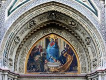 Cathedral detail 3 Florence IT Stock Photos