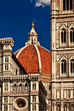 A cathedral dome. A cathedral dome at Florence, Italy Royalty Free Stock Photos