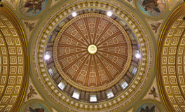 Cathedral Dome. The dome of the Marie-Reine-du-Monde Cathedral in Montreal, Quebec royalty free stock photos