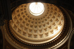 Cathedral dome. Dome of the San Giovanni in Lanterano Cathedral in Rome Royalty Free Stock Images