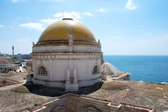 Cathedral dome, Cadiz. stock images