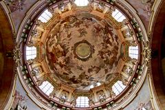 Cathedral dome with religious fresco stock photo
