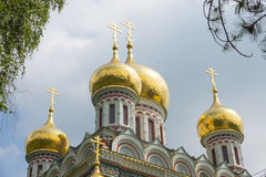 Cathedral dome in the Shipka Monastery Royalty Free Stock Photo