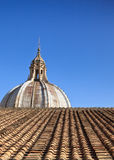 Cathedral dome and tile roof Royalty Free Stock Photo