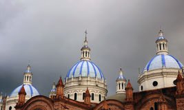 Cathedral Domes. The Cathedral domes in Cuenca Ecuador Stock Images