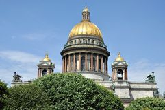 Cathedral domes in Russia Royalty Free Stock Photo