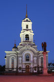 Cathedral in Donetsk / Ukraine. Orthodox Cathedral in downtown Donetsk in the Ukraine royalty free stock image