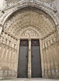 Cathedral Door. Fron view of one the most famous doors of the Cathedral of Toledo (Spain Royalty Free Stock Photo