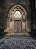 Cathedral door. Gothic door of cathedral in prague Stock Photography