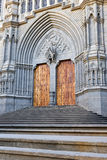 Cathedral door in Arucas, Gran Canaria Royalty Free Stock Image
