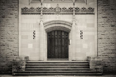 Cathedral door in black and white Royalty Free Stock Image