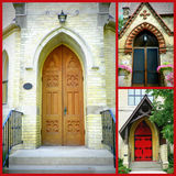 Cathedral Door Collage Royalty Free Stock Images