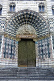Cathedral Door Genoa Church St. Lawrence Lorenzo Italy Royalty Free Stock Image